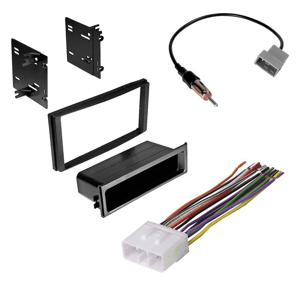subaru forester/ impreza/ wrx double din radio stereo installation kit and wire  harness +