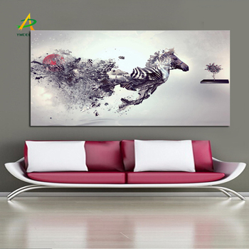 Digital Print Canvas Wall Art Abstract Horse Painting For Home Decoration Free Sample