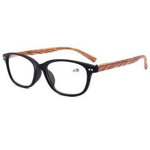Новые очки для чтения для мужчин и женщин, модные очки для чтения, с деревянным лицевым покрытием, на весну, ультра-светильник, очки для чтени...(China)