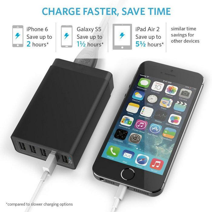 Eu/uk/us Plug 5v 8a 5usb Universal Wall/home Charger For Cell ...