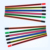 hexagonal shape neon paint hot selling stripped wooden pencil without eraser