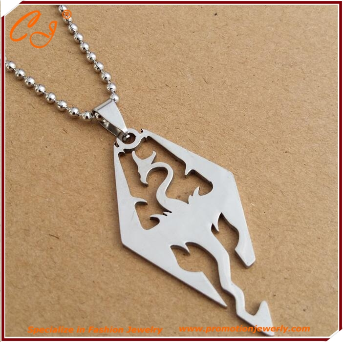 Korea Men's Fashion Jewelry stainless Steel Necklace Skyrim Pendant For Women Sweater Chain Hot Necklace Charm