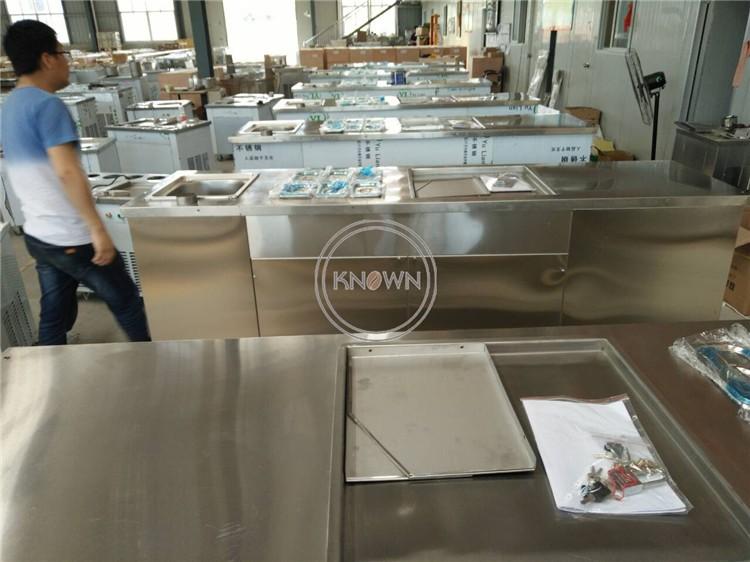 HTB1884 VH2pK1RjSZFsq6yNlXXav - Round Pan Thai High quality convenient 1+6 keep fresh tanks thai business ice cream continuous freezer rolls machine