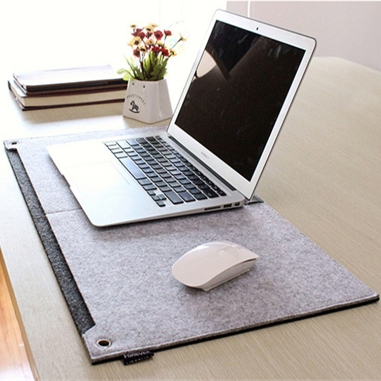 Hot Sale Oversized Computer Felt Mouse Mat, Desk Felt Pad