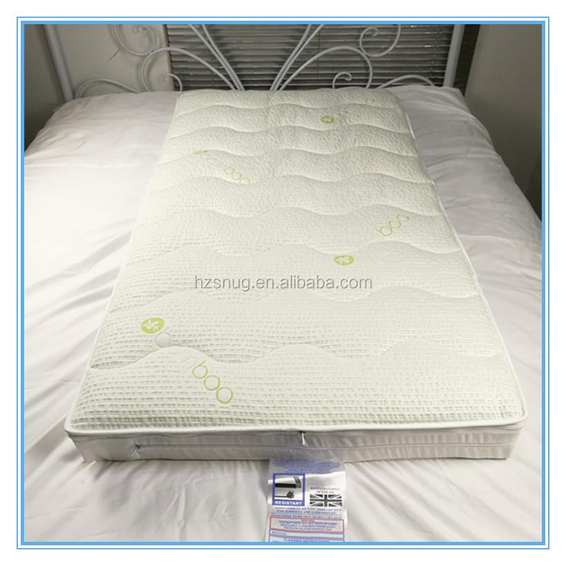 baby crib bamboo jacquard quilted removable mattress encasement zippered mattress cover sgb16 - Mattress Encasement