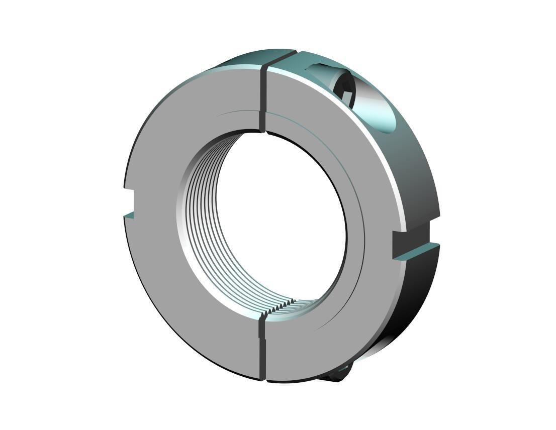 Whittet-Higgins SNS40-16S Stainless Steel Threaded Clampnut // Shaft /& Bearing Locknut Split Collar Self-Locking Unified Constant 2.500-16 Right-Hand Thread