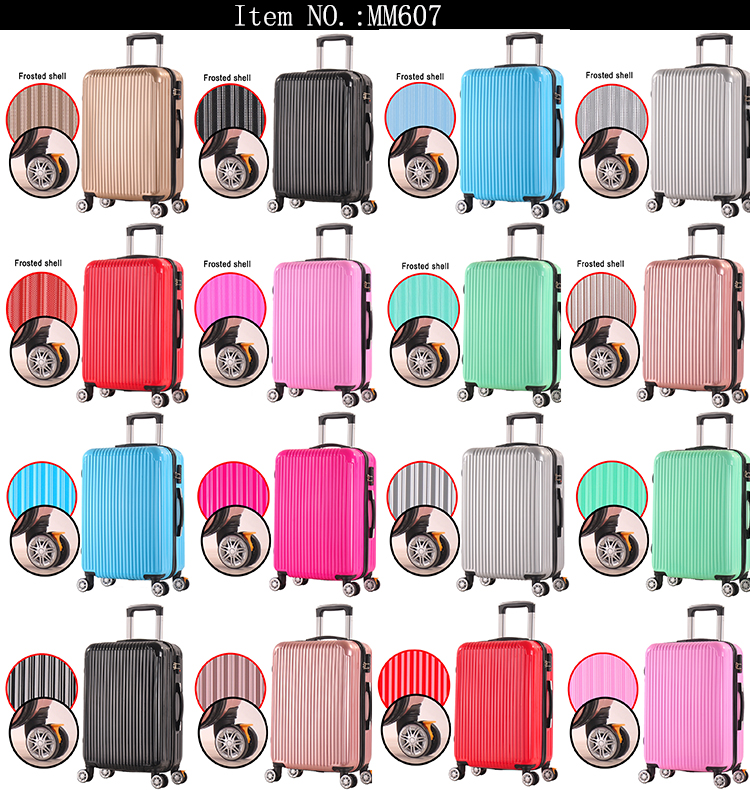 Custom printing suitcases sale carry on hard suitcases aluminum frame best price luggage for GIRLS