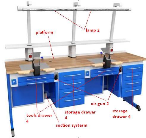 Venta al por mayor mesas laboratorio dental compre online for Diseno mesa de trabajo
