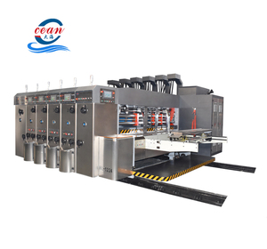 Auto feeding save time flexo corrugated carton printing machinecard board boxes manufacturing machines