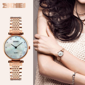 Ladies Watch Brands Popular Japan Movt Bell And Rose Quartz Watches Premium 304 Stainless Steel Band Waterproof Skmei Buy Japan Movt Bell And Rose