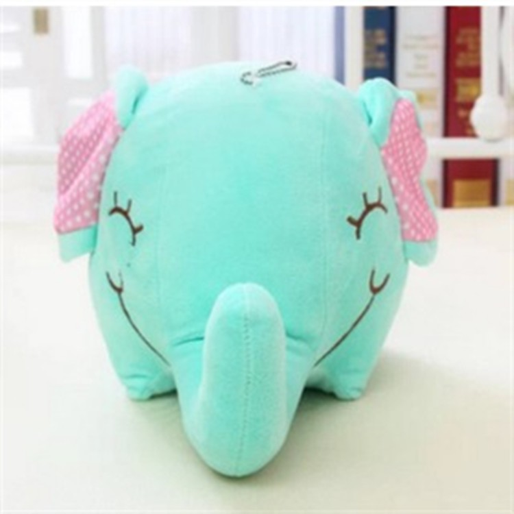 mint green elephant cute cartoon cotton adorable doll for baby small stuffed animals