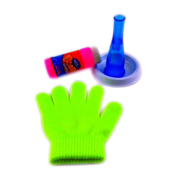 Kids magic bounce soap bubble toys wholesale with glove