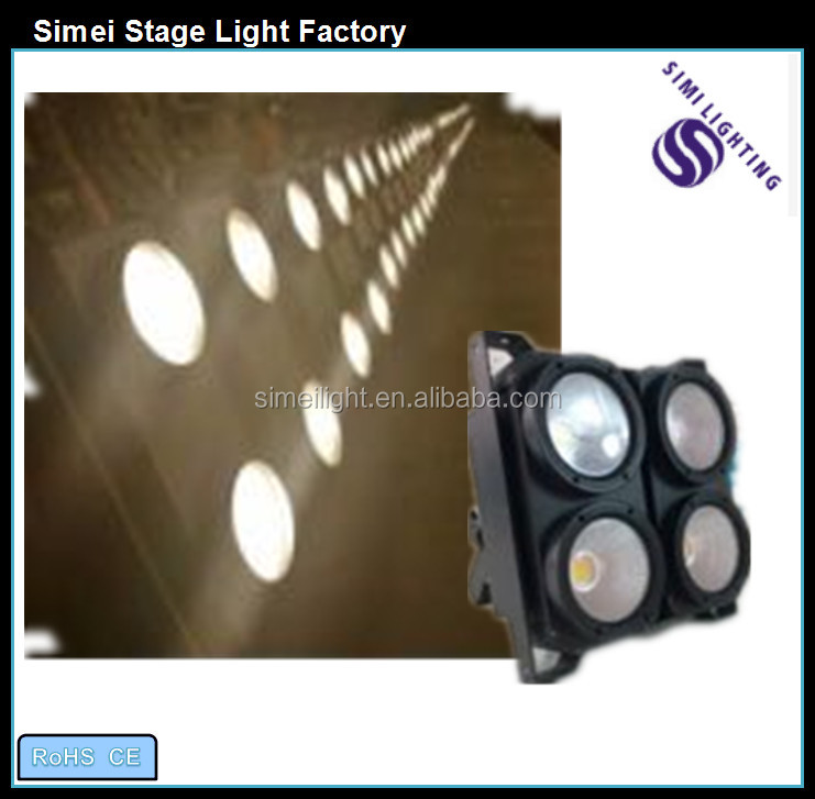 High power New blinder Double color 400w stage light 4*100W COB White and warm white 4 eyes audience light