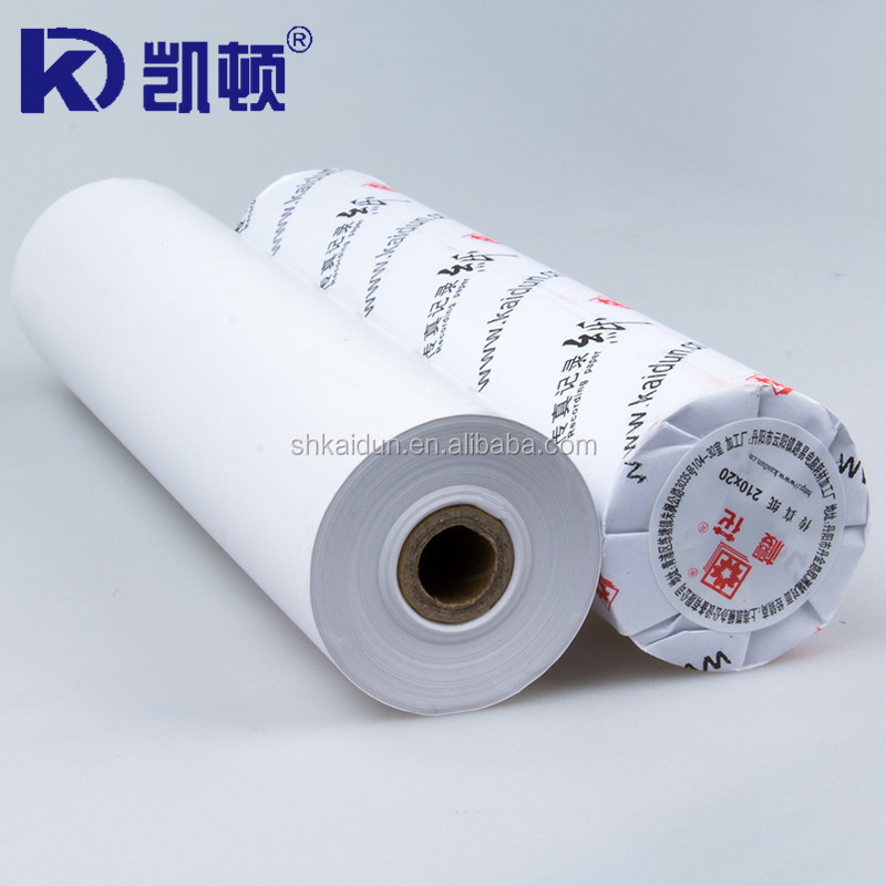 Popular 210mmx20m thermal fax paper in rolls