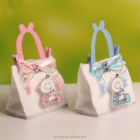 Nonwoven Fabric Baby Shower Theme Baby Candy Bags Party Favors with Handle and Clips