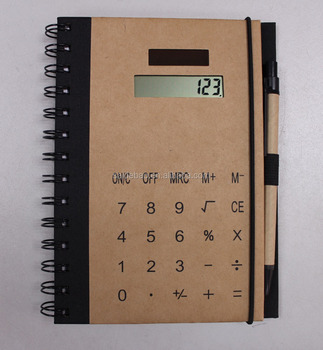new fashion paper cover calculate spiral notebook factory price