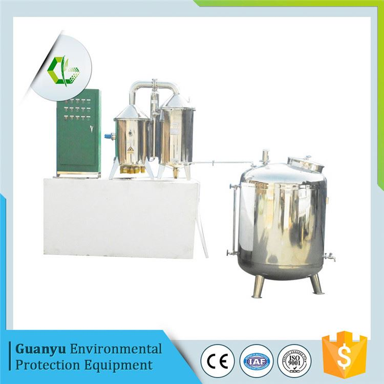 Vacuum glass steamed water distiller