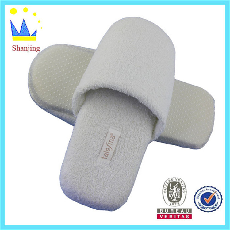 print cheap personalized with ties fashionable hotel slipper