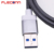 3FT Gray Metal Nylon Braided USB-C USB 3.1 Type-C Fast Data Charging Cable