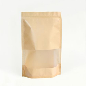 Wanfang wholesale stand up kraft paper zipper ldpe pizza bag