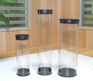 plastic clear storage tube clear plastic cylinder tube with lid clear plastic tube