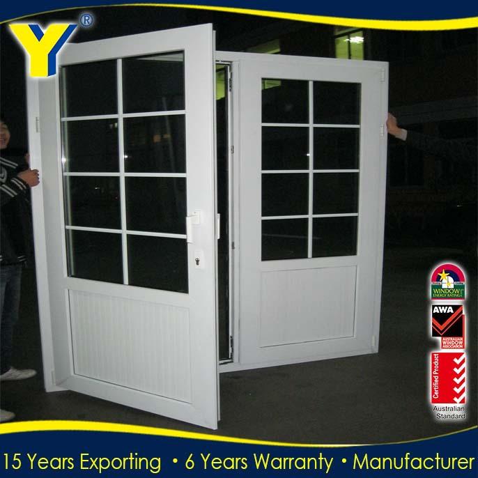 Alibaba Modern Door Design Aluminium Double Swing Door