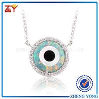 Evil Eye Pendant Cz Necklace/Evil Eye Pendant Necklace Price/Evil Eye Pendant Necklace For Sale