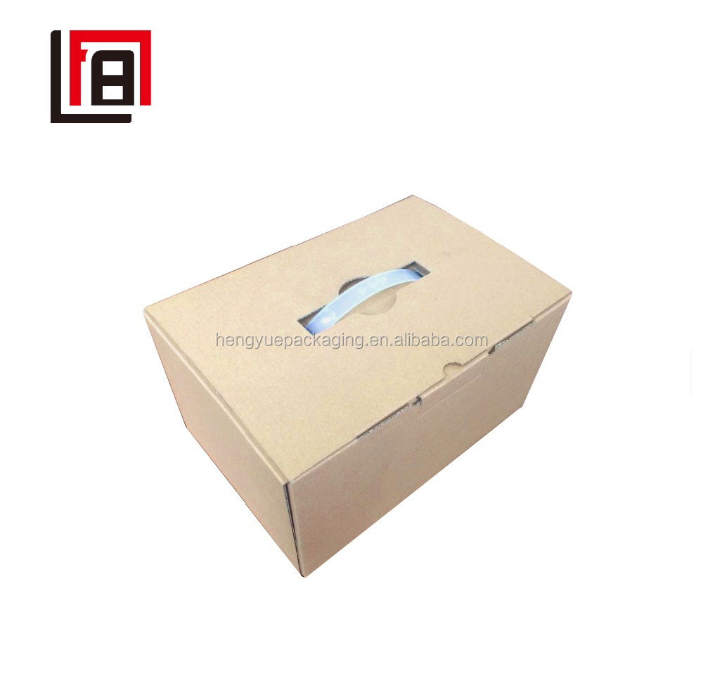 Cheap Milk Corrugated Box Carton with Plastic Handle