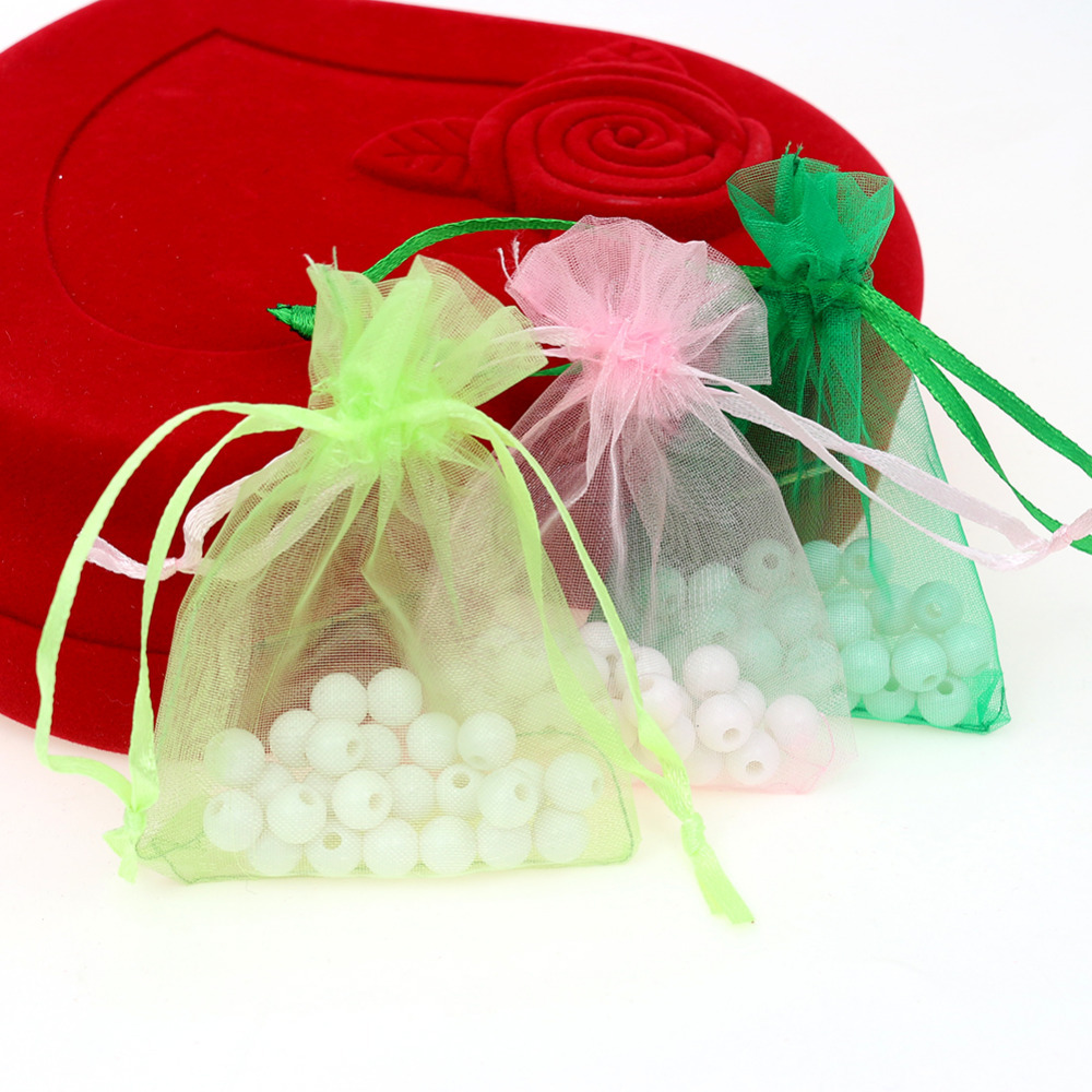Small Wedding Gift Bags: 7x9cm Mixed Color Organza Bags Small Gift Packaging