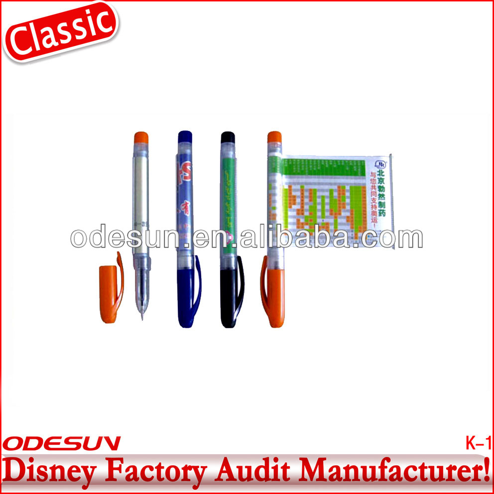 Disney factory audit manufacturer's printed banner pens 142689