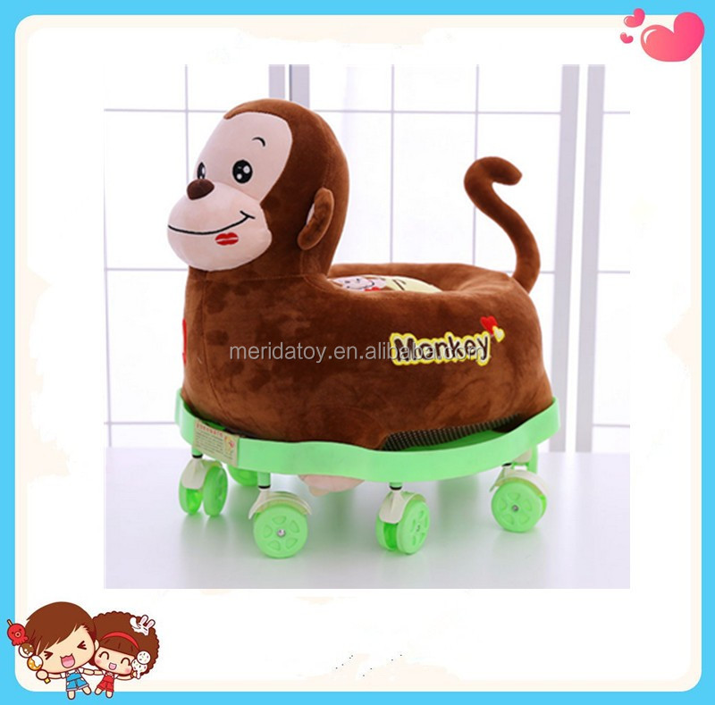 Goods custom wholesale cartoon animal giraffe monkey for Personalized kids soft chairs
