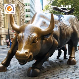 garden decoration life size bronze wall street bull statue for sale/large animal bronze wall street bull statue BRAZ-214
