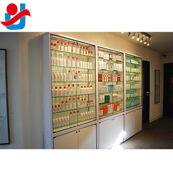 87 Tall Modern White Lockable Glass Doors Skin Care Products