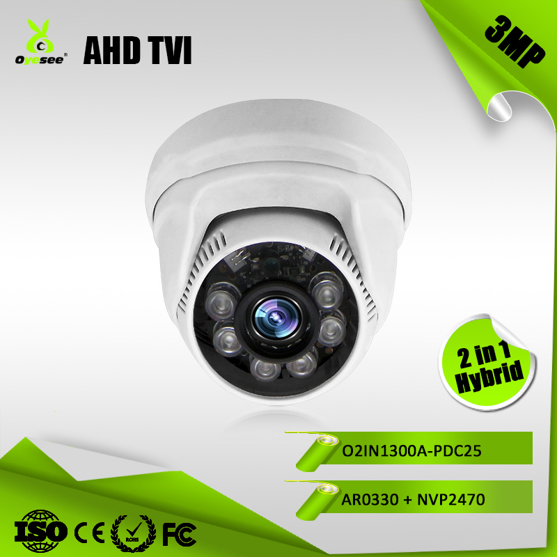 3MP 1080P AHD TVI Hybride 2-in-1 HD video surveilance conferentiecamera beter dan Japanse cameramerken