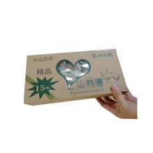 custom transparent window design cardboard shipping egg carton with logo printing
