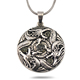 Free shipping antique silver plating lucky dragon play ball religious pendant for necklace ECO-friendly