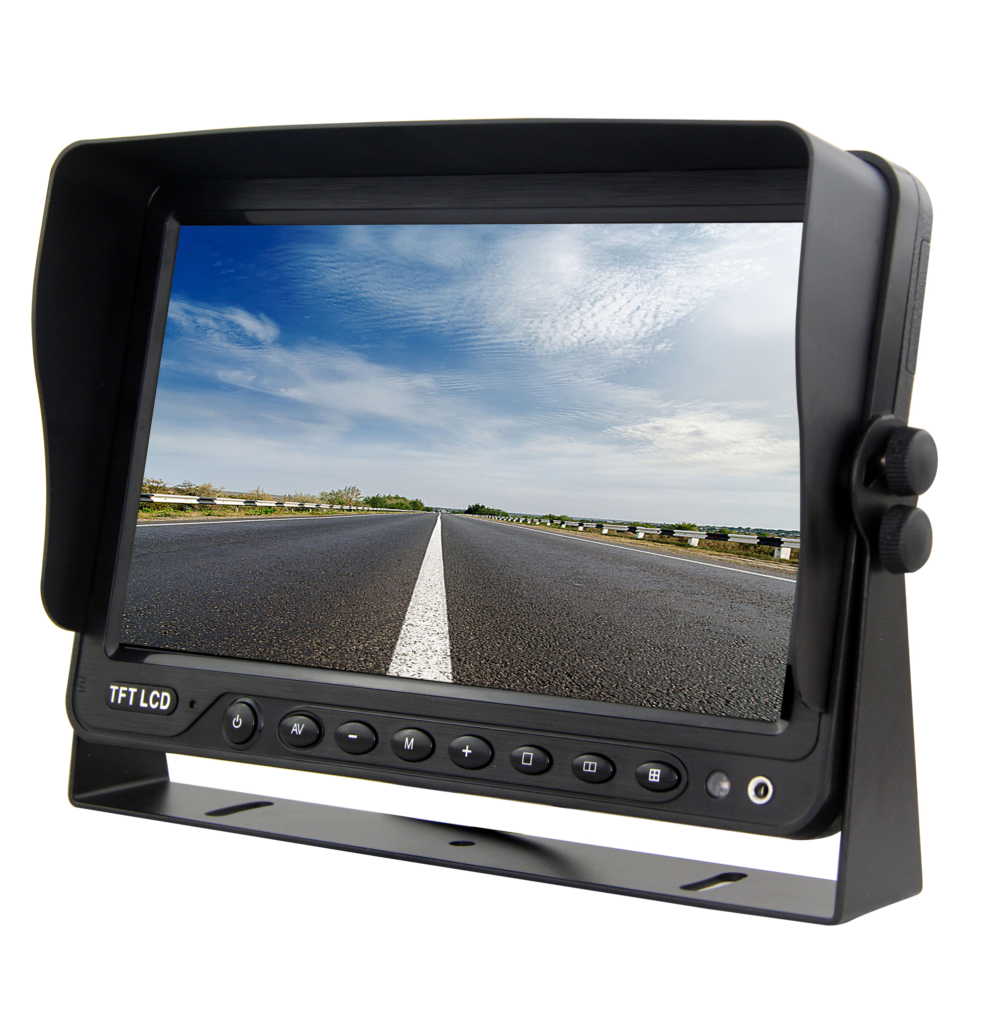 China manufacturer car tft lcd monitor car sun visor monitor car split  screen monitor 0d20c3b2757