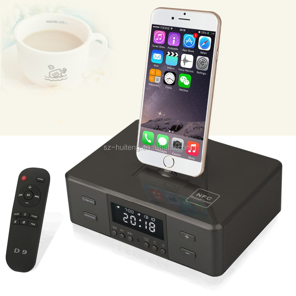 Lcd Fm Radio Alarm Clock Bluetooth Speaker Charging Dock Station ...