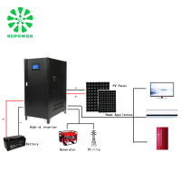 Cost saving three phase 160kw 200kw power star ac off grid and grid tie hybrid inverter 12v 220v