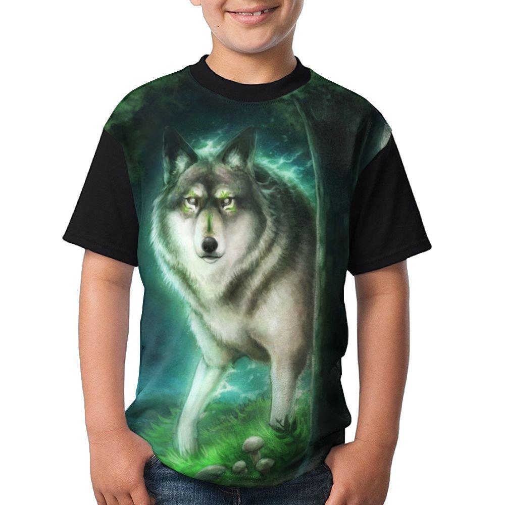 97637024c Get Quotations · Wild Wolf Boy Colorful Print Undershirt Tees Crew Neck  Comfortable Raglan Tees Tops