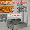 2016 New 20 Models 3L-12L Stainless Steel spain churros machine for sale /Churro Maker