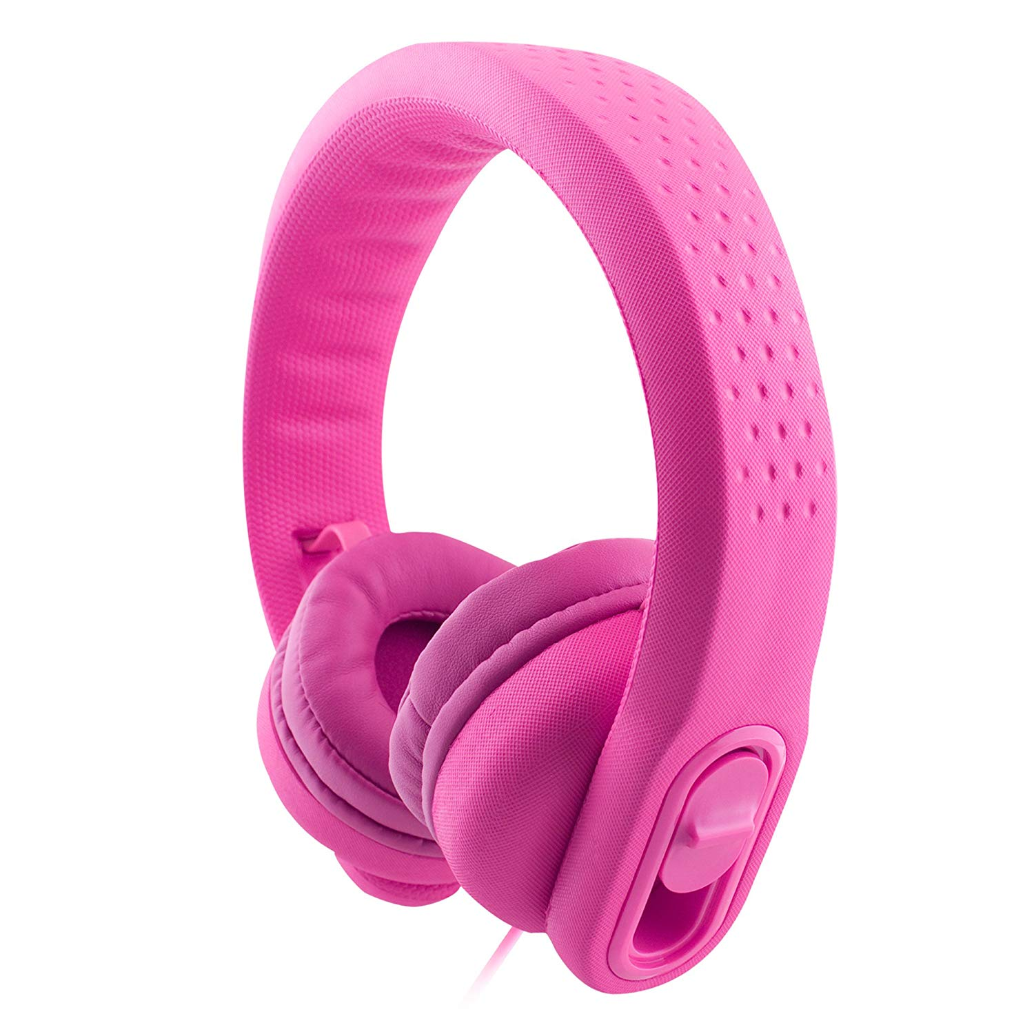 K900 Wired Over Ear Kids Headphones Toddler Headphones with Microphone and Sharing Port, 85dB Volume Limiting, Girls Headphones for Kids,Safe Soft Durable,Boys Child Children Headphones Kids (Pink)