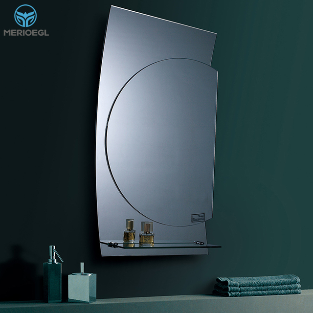 china most popular mirror decorative frameless bathroom mirror glass shelf - Decorative Mirror Manufacturers
