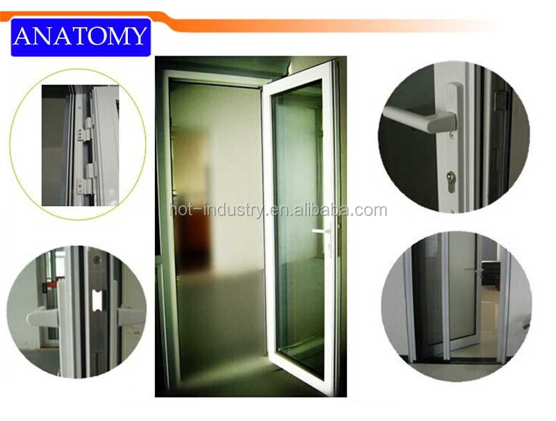 Ecological Reinforced Aluminum Alloy Frosted Interior Bathroom Soundproof  Glass Door