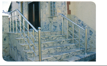 Outdoor Aluminum Stainless Steel Removable Stair Railings Handrail Barades Porch Rail