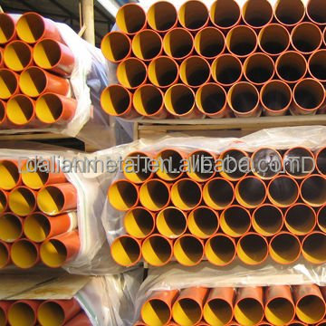 DN50-300 Red epoxy coated drainage EN877 grey cast iron pipes
