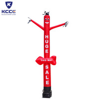 Customized size inflatable tube sky air dancer man for Advertising