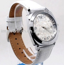 2011 women alloy bracelet watch/leather strap/water-resistance