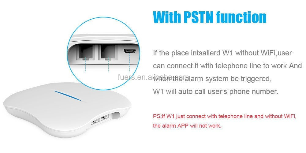 English Kerui-W1 2.4G WIFI Wireless Network IOS&Android APP Control PSTN Intelligent Home Burglar Security Alarm System