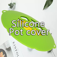 New Silicone Steamer Pot Lids Spill Stopper Lid Cover Ship Kitchen Suction Bowl Covers